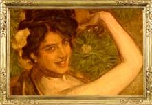 """Cuadro de Anselmo Miguel Nieto, """"Anita Delgado la Camelia"""" 1905"""