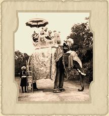 El Maharajá de Kapurthala en elefante