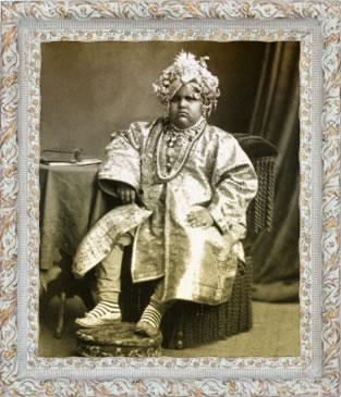 El Maharajá de Kapurthala cuando era pequeño